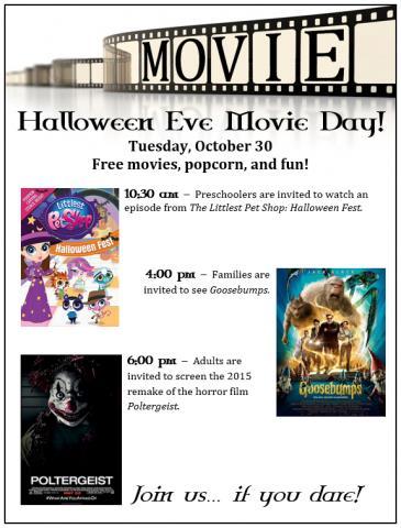 Halloween Film Fun Swanton Public Library